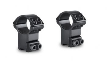 "Hawke Match 1""/25mm HIGH Rifle Scope Mount Rings - 9-11mm Airgun Rimfire base 22102"